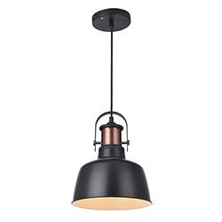Lámpara Colgante Basin Negra Eurolight