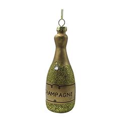Botella Colgante Navideña Oro 14cm