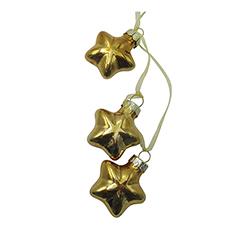 Estrellas Colgantes Cascadas Oro