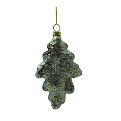 Hoja navideña Verde Menta 12.5cm