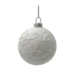 Bola de Vidrio Blanca 8cm