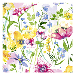 Servilleta Flower Meadow 25x25cm 20 Unidades