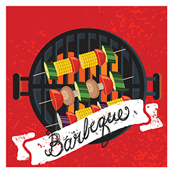 Servilleta BBQ Veggies 33x33cm 20 Unidades