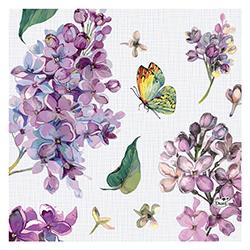 Servilleta Sweet Butterfly Lilac 33x33cm