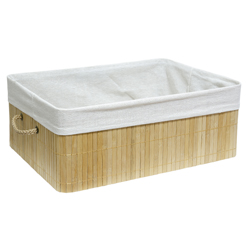 Cesto Bamboo Natural 40X15X29cm