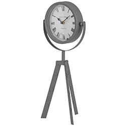 Reloj Tripode de Mesa Gris