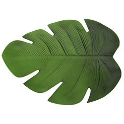 Individual Verde con Diseño de Hoja