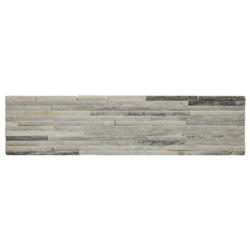 Piedra Ladrillo Blanca Gris Quartzite  15x60cm