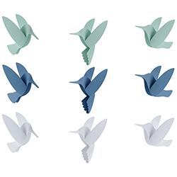 Decoración de Pared Hummingbird 9 Piezas Umbra