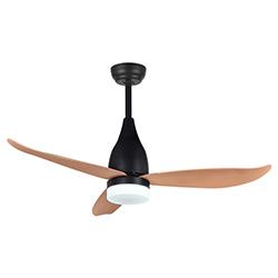 Ventilador Negro para Techo con Lámpara y Control Remoto 52