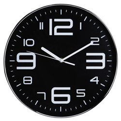 Reloj de Pared Crack Negro
