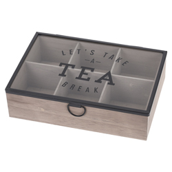 Caja de Madera Porta Té Lets Take