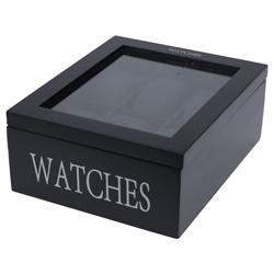 Porta Relojes x6 Negro