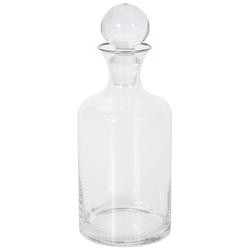 Botella con Tapa Cristal Bubble Filo Dorado