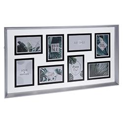 Porta Retrato para 8 Fotos Cromo Mate