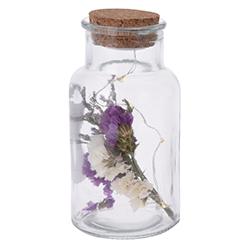 Botella Floral con Luz Led
