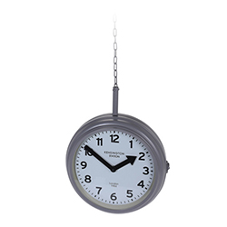 Reloj Colgante Station Gris