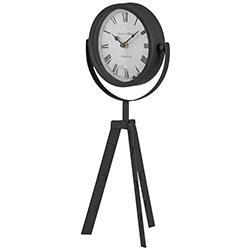 Reloj Tripode de Mesa Negro