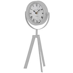 Reloj Tripode de Mesa Blanco