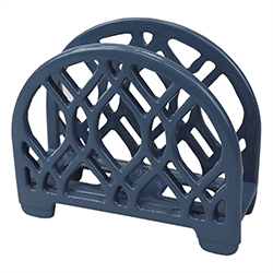 Porta Servilleta Azul de Metal Home Basic