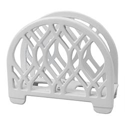 Porta Servilleta Blanco de Metal Home Basic