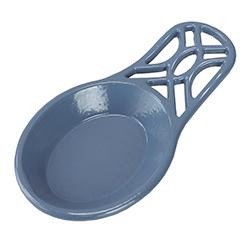 Porta Cucharón Azul de Metal Home Basic