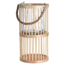 Farol Bambú con Porta Vela