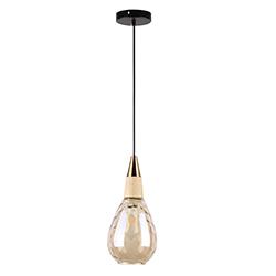 Lámpara Colgante Amber Chik Oro Satín