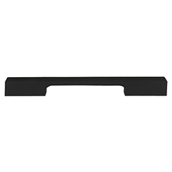Tiradera Troya Negro Mate 160mm
