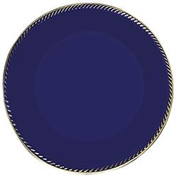 Porta Plato Azul Filo Dorado 33x33cm