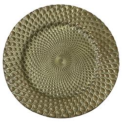 Porta Plato Textura Cobre Antiguo 33x33cm