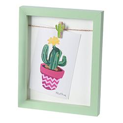 Porta Retrato Cactus Verde