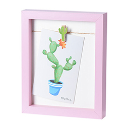 Porta Retrato Cactus Rosa