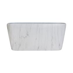 Porta Macetero Blanco Diseño de Mármol 19cm