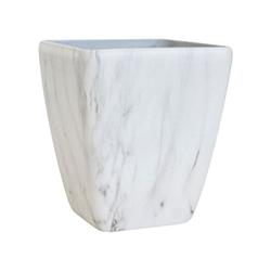 Porta Macetero Blanco Diseño de Mármol 43cm