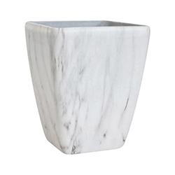 Porta Macetero Blanco Diseño de Mármol 35cm