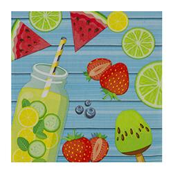Servilleta Summer Fruits 33x33cm 20 Unidades