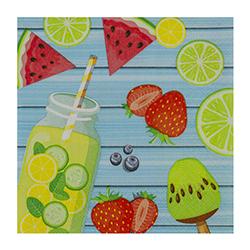 Servilleta Summer Fruits 25x25cm 20 Unidades